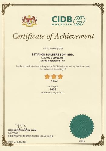 CIDB - Star Rating